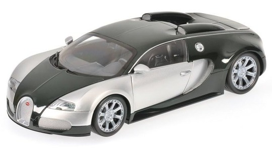 Bugatti Veyron edition centenaire chrome green Minichamps 1:18 100110852