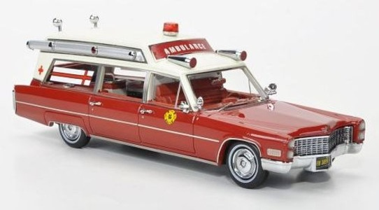 Cadillac DeVille Coupe S-S Ambulance Fire Rescue Neo Scale Models 1:43 NEO43899