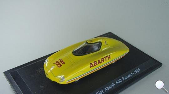 Fiat Fiat Abarth 500 Record-1958 amarillo Hachette 1:43