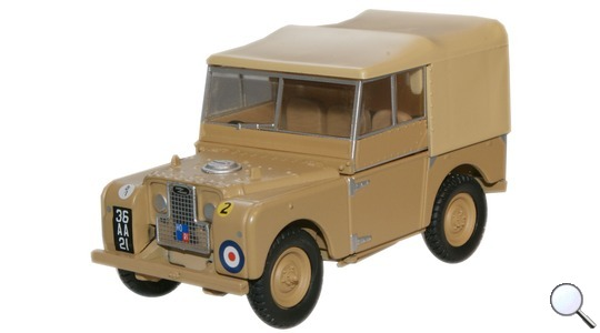 Land Rover Series I 80 34th Light AA Reg Oxford Diecast 1:43 LAN180008