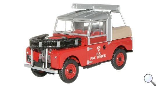 Land Rover Series I 88 Fire British Rail Oxford Diecast 1:43 LAN188015