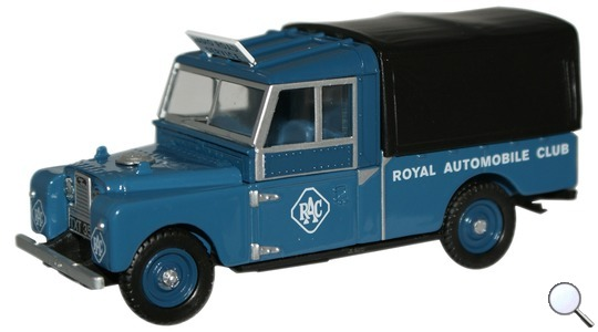 Land Rover Series I 109 Canvas RAC Oxford Diecast 1:76 76LAN1109004