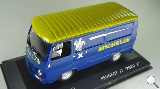 Peugeot J7 Michelin IXO MODELS 1:43